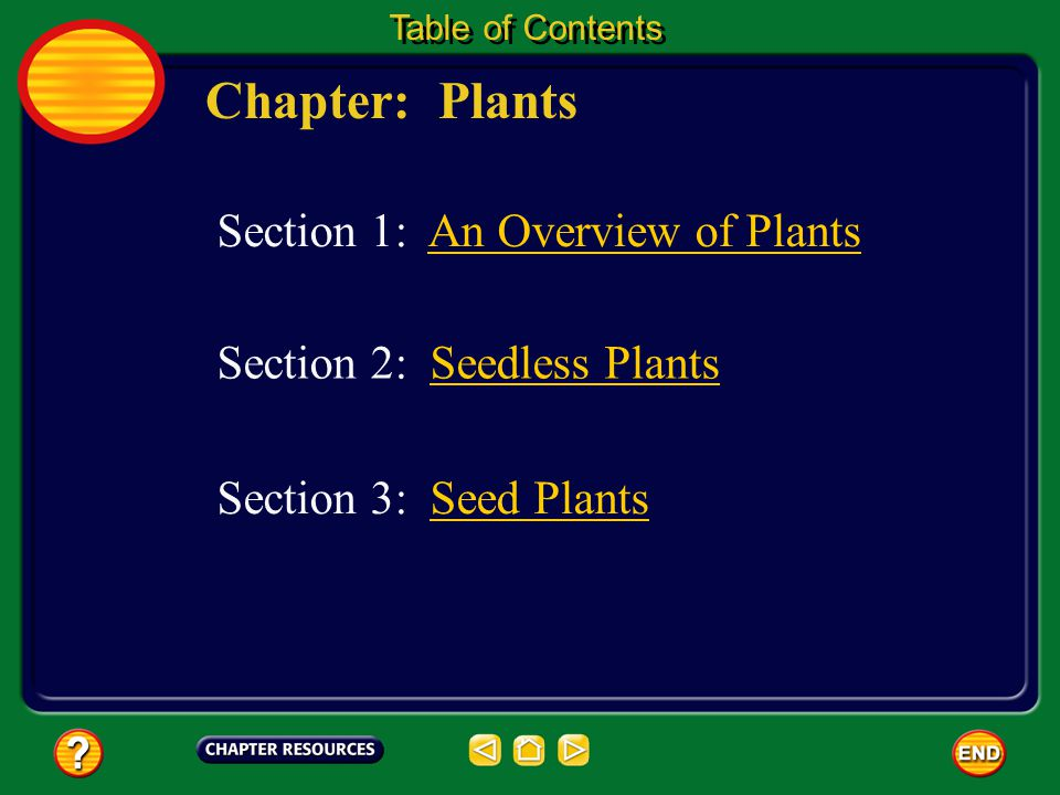 Chapter: Plants Section 1: An Overview of Plants