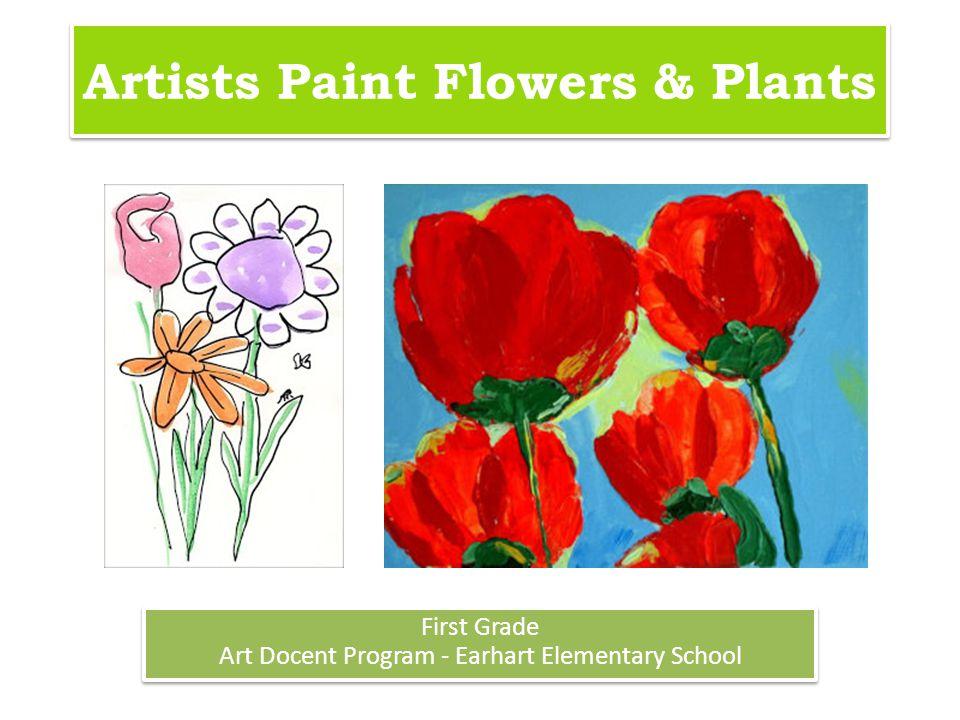 Artists Paint Flowers & Plants