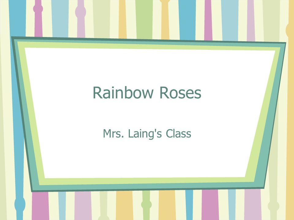 Rainbow Roses Mrs. Laing s Class