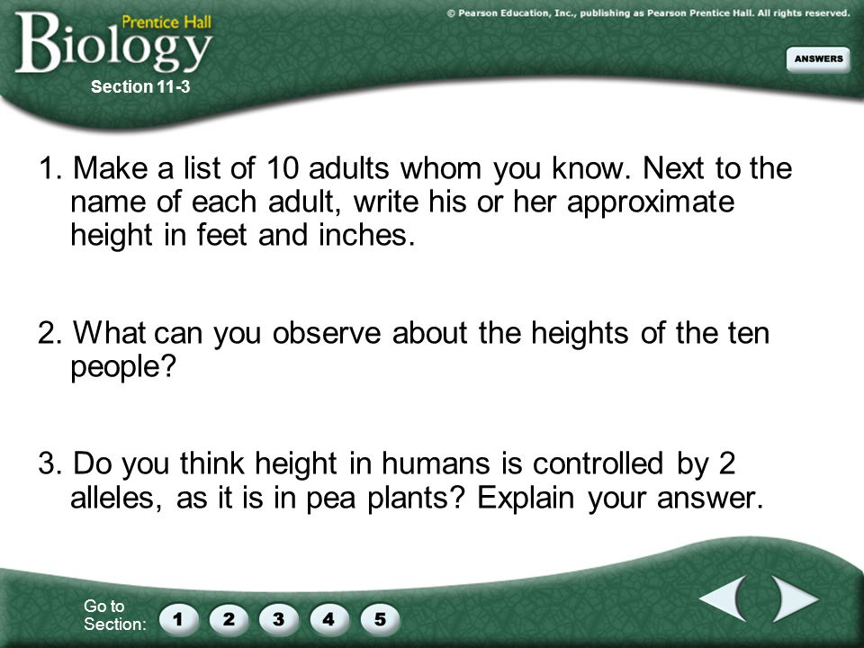 2. What can you observe about the heights of the ten people