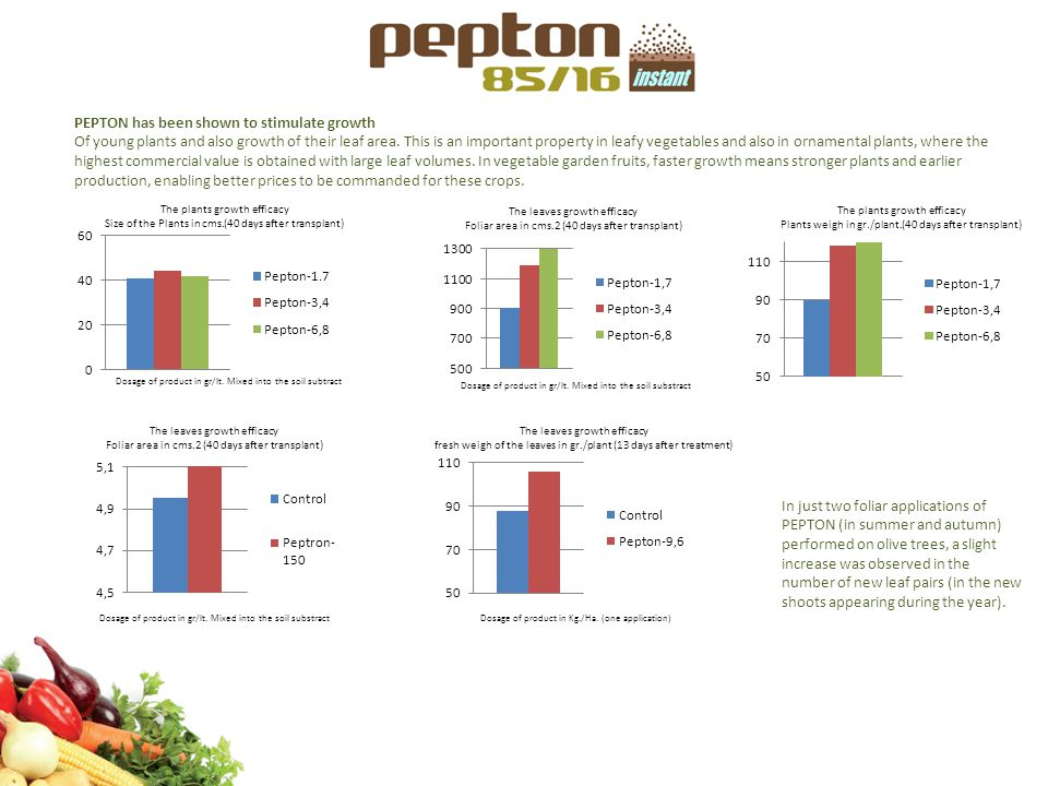 PEPTON has been shown to stimulate growth