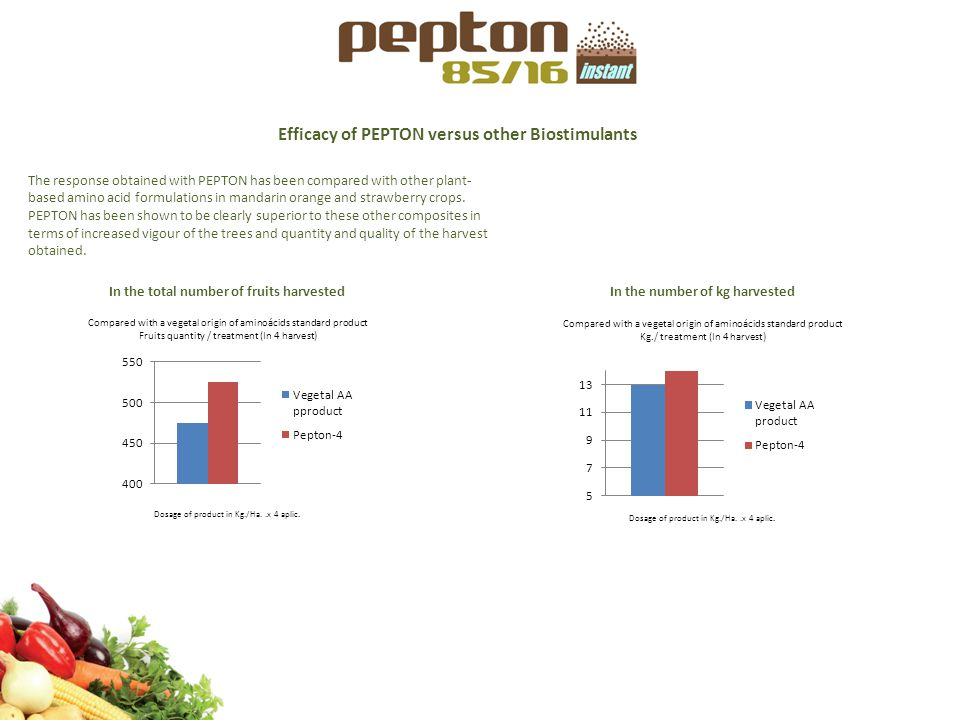 Efficacy of PEPTON versus other Biostimulants