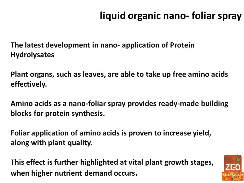 liquid organic nano- foliar spray