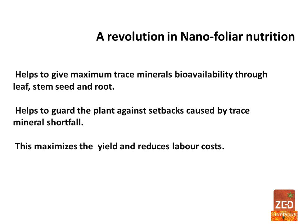 A revolution in Nano-foliar nutrition