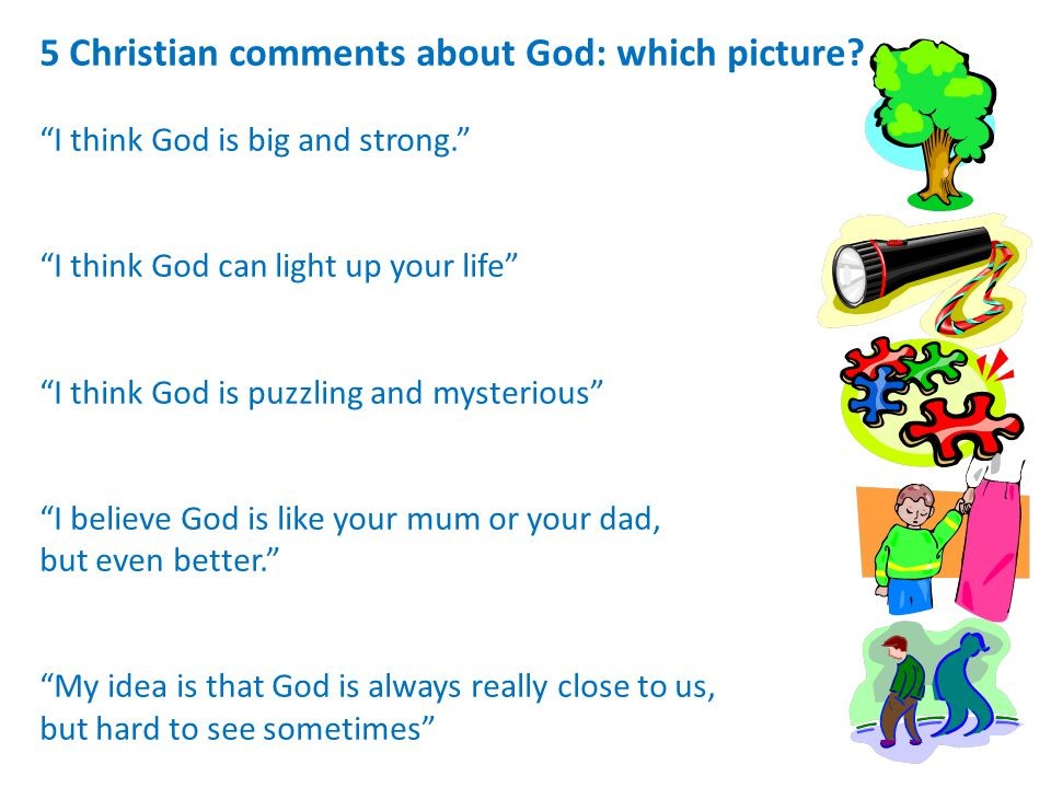 5 Christian comments about God: which picture