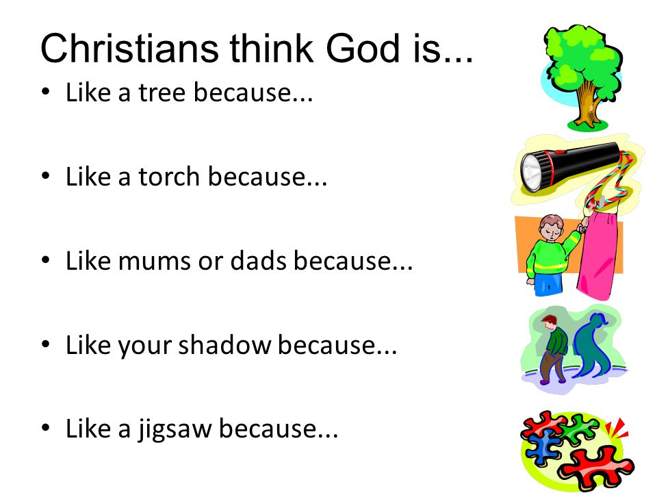 Christians think God is...