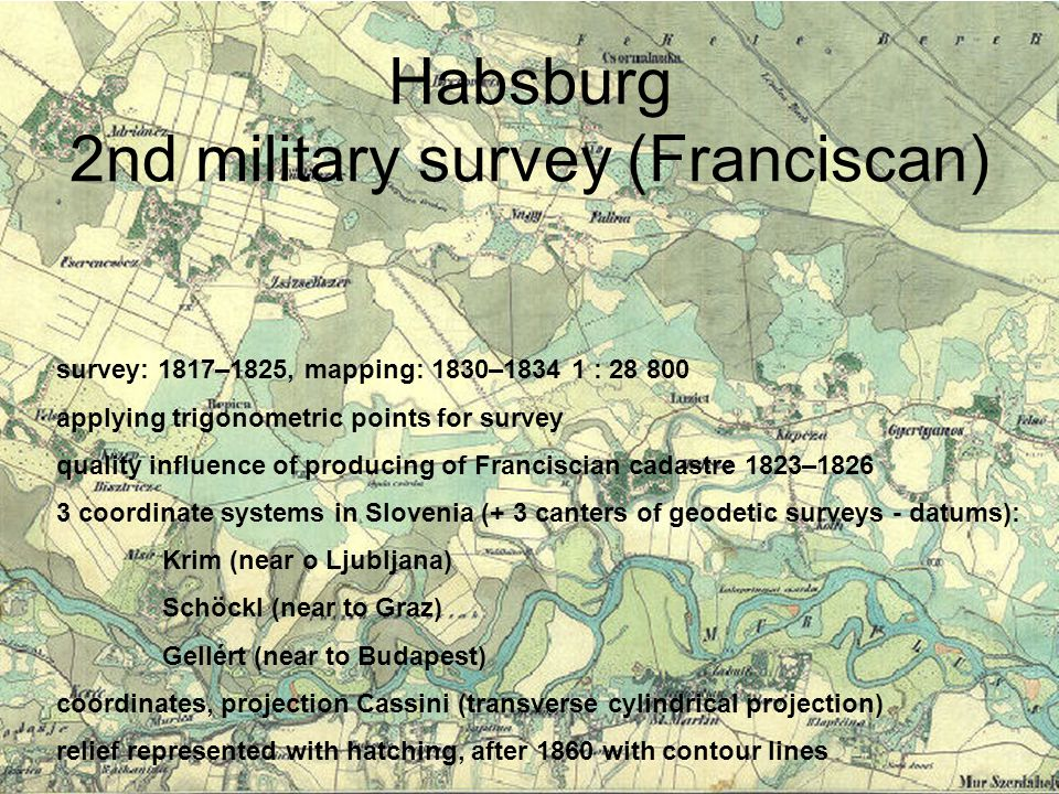 Habsburg 2nd military survey (Franciscan)