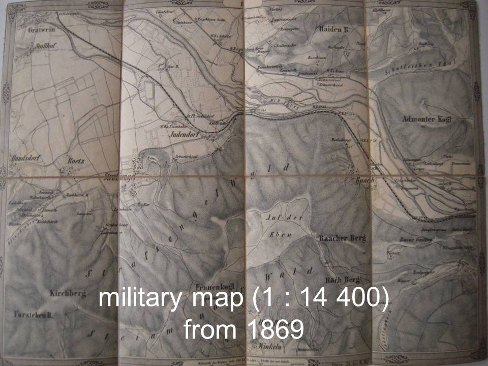 military map (1 : ) from 1869