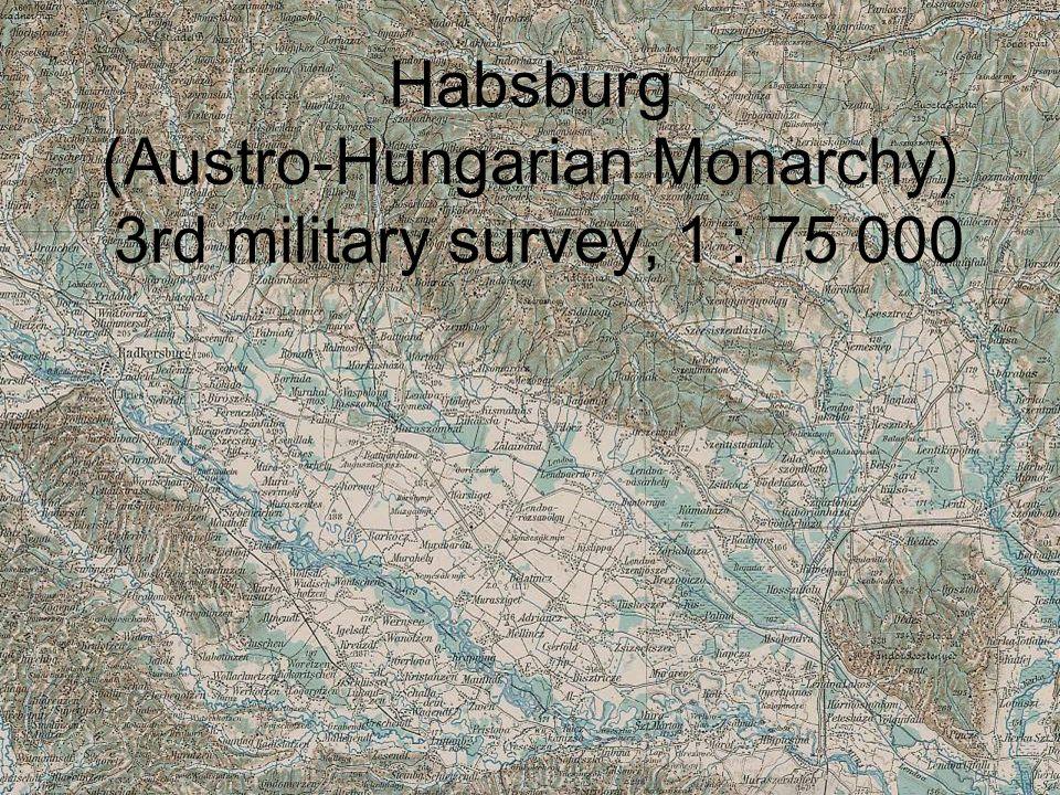 Habsburg (Austro-Hungarian Monarchy) 3rd military survey, 1 : 75 000