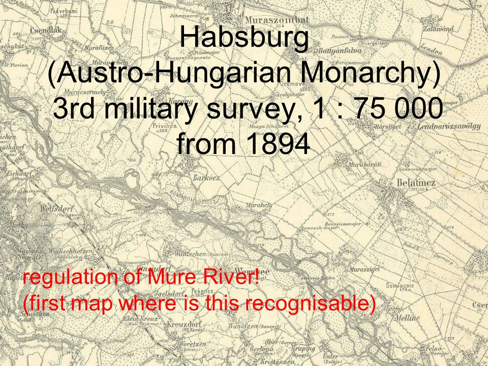 Habsburg (Austro-Hungarian Monarchy) 3rd military survey, 1 : 75 000 from 1894