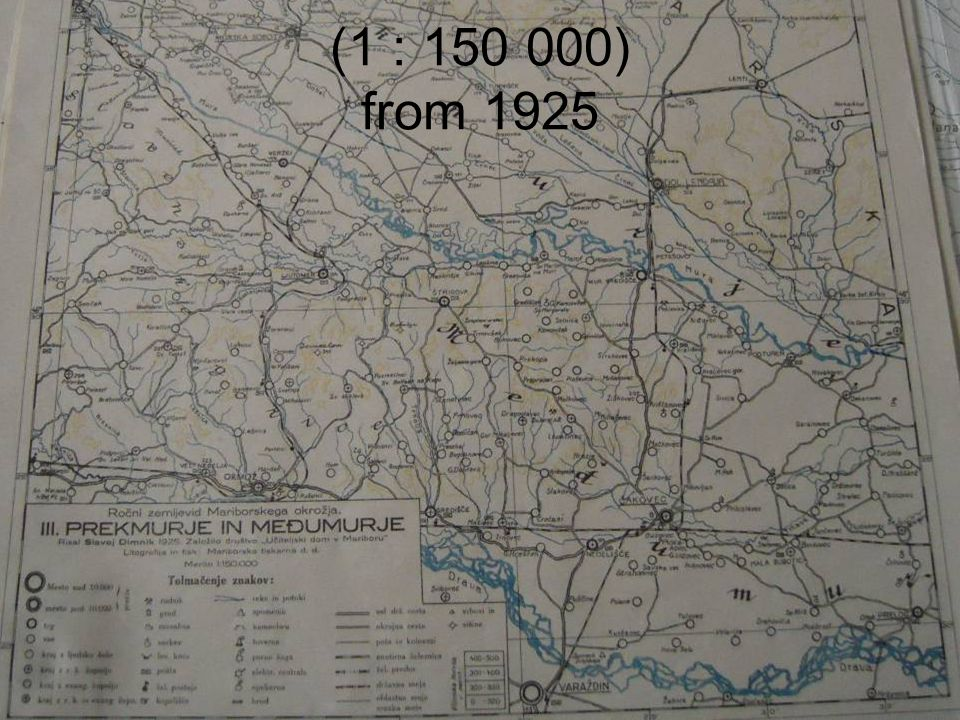 (1 : 150 000) from 1925