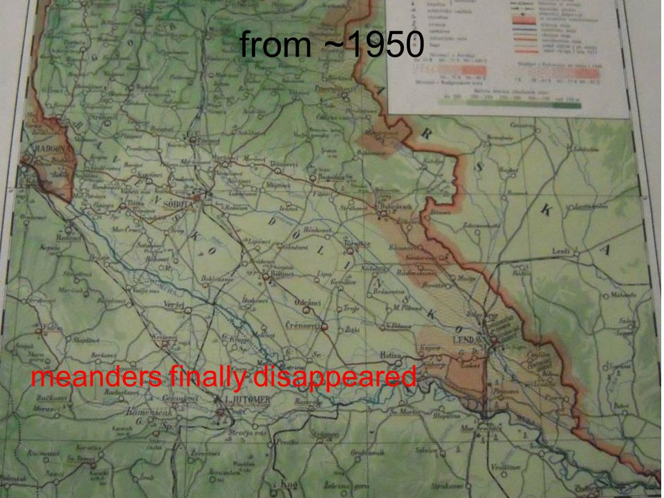 from ~1950 meanders finally disappeared