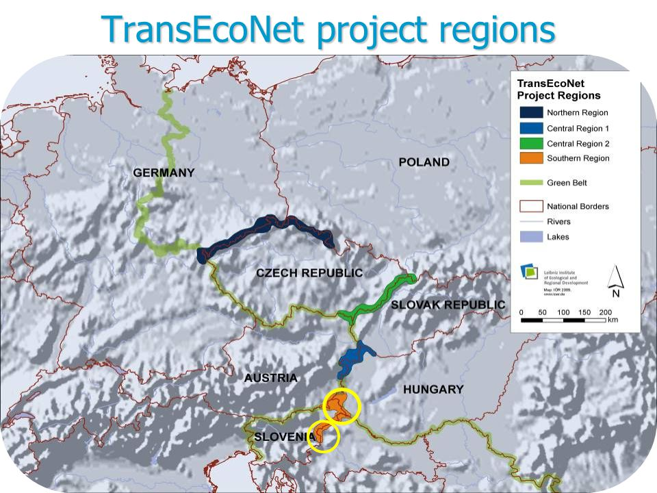 TransEcoNet project regions