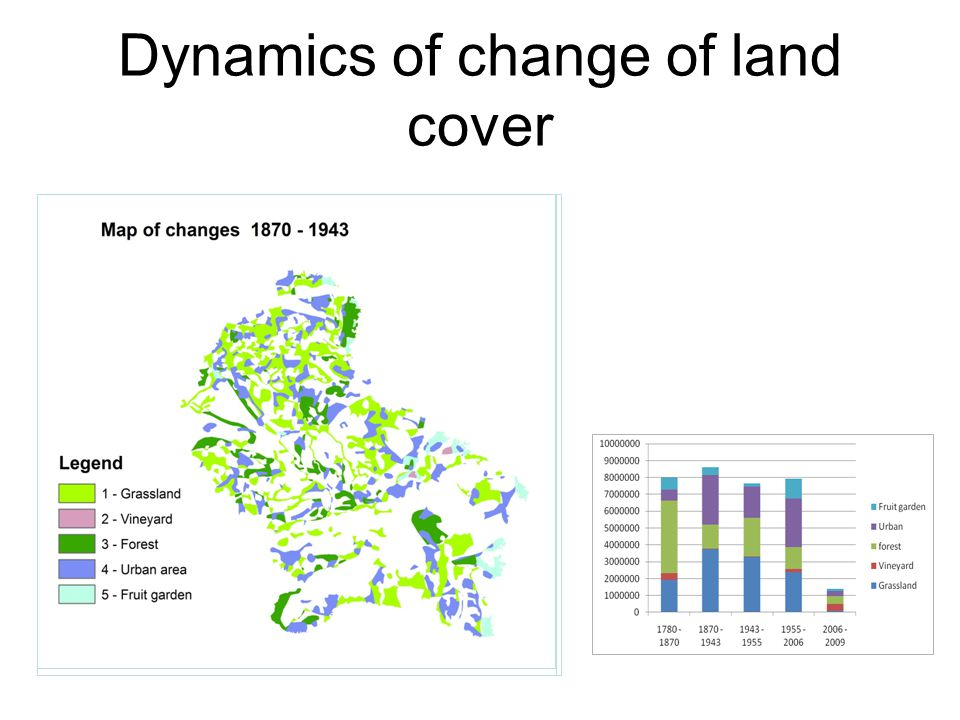 Dynamics of change of land cover