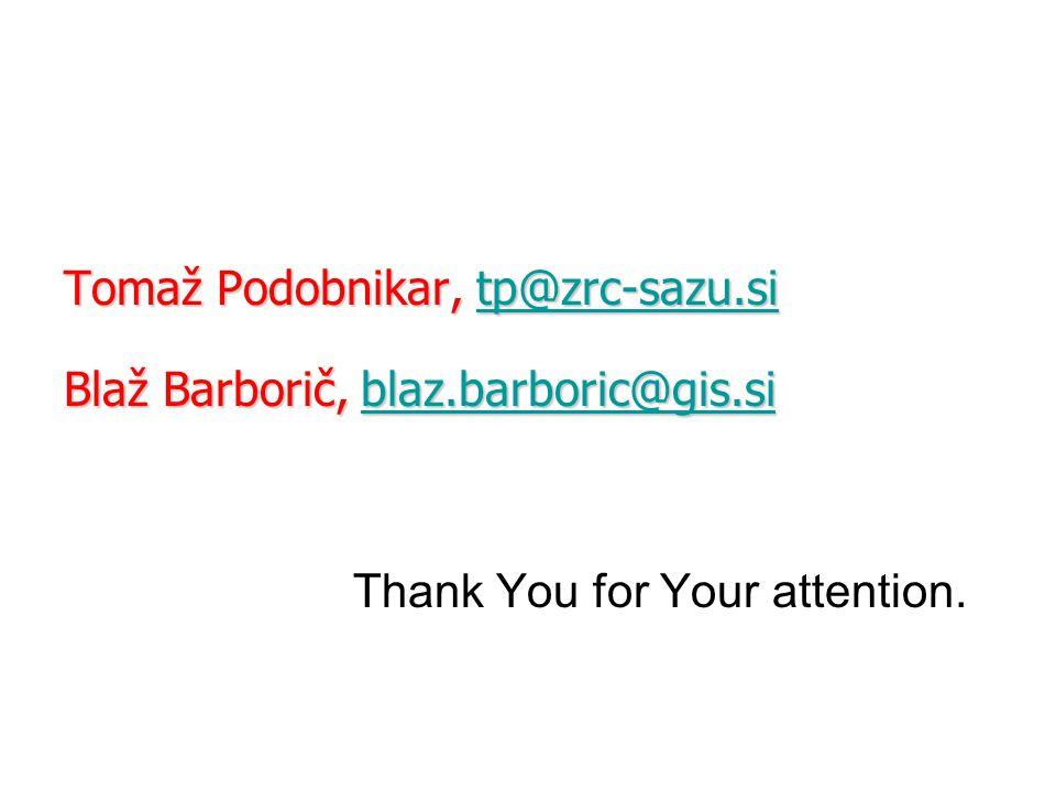 Tomaž Podobnikar, tp@zrc-sazu. si Blaž Barborič, blaz. barboric@gis