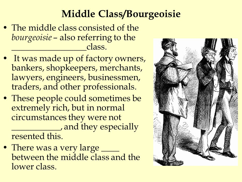Middle Class/Bourgeoisie
