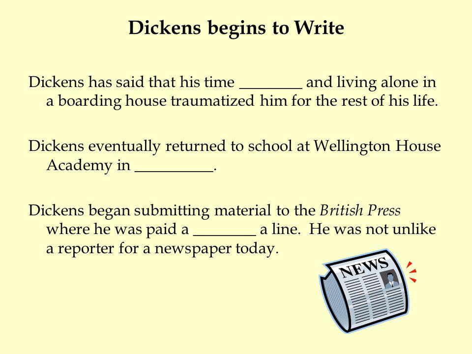 Dickens begins to Write