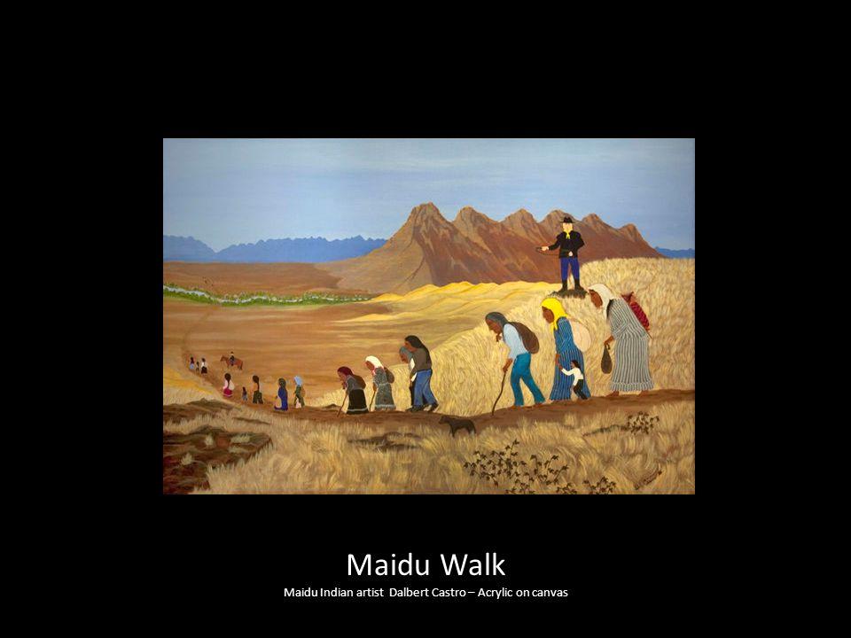 Maidu Indian artist Dalbert Castro – Acrylic on canvas