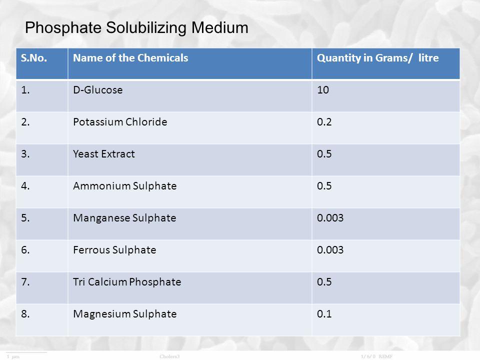 Phosphate Solubilizing Medium