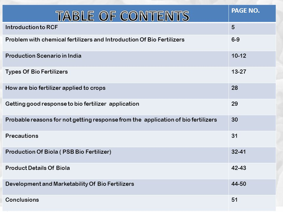 TABLE OF CONTENTS PAGE NO. Introduction to RCF 5