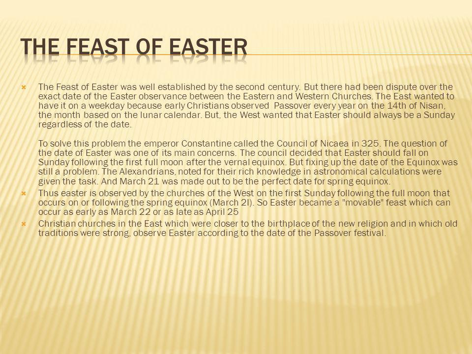 The Feast of Easter