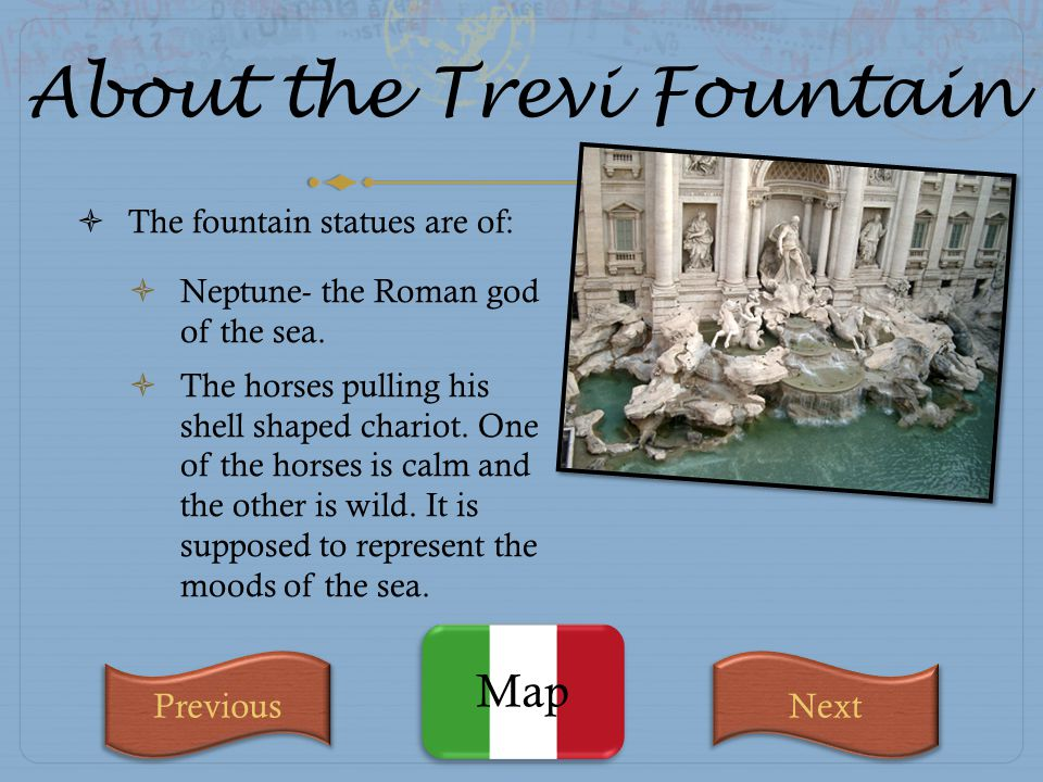 About the Trevi Fountain
