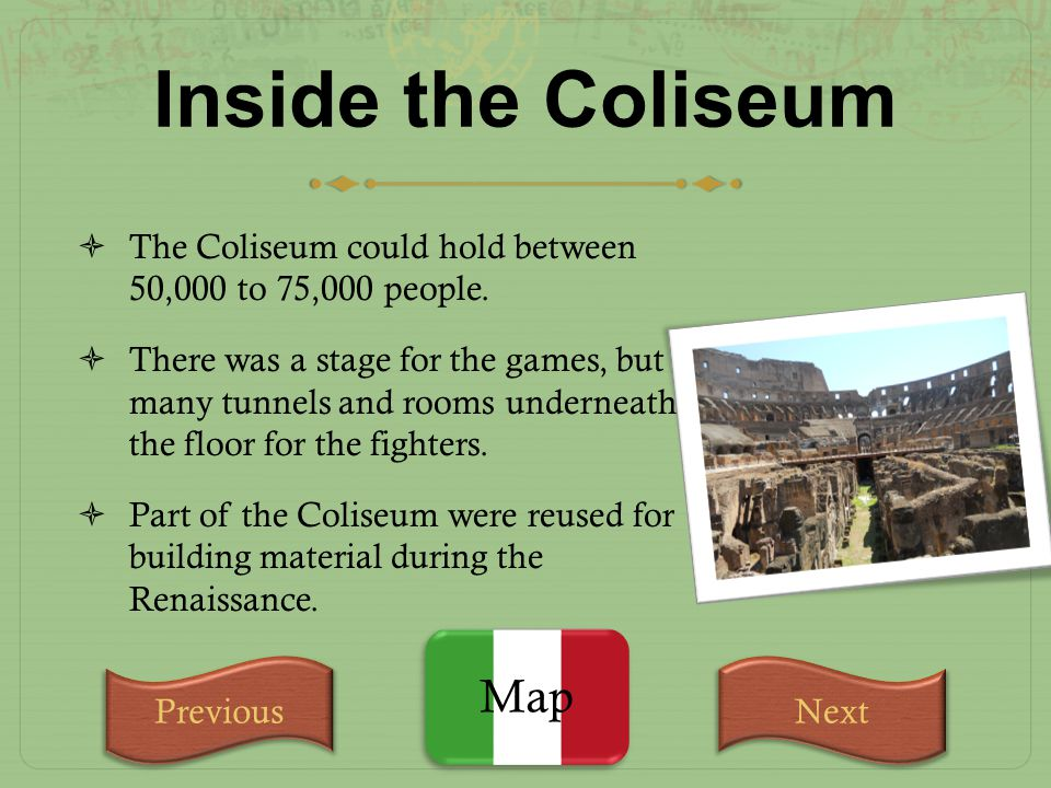 Inside the Coliseum Map