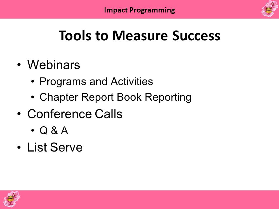 Tools to Measure Success