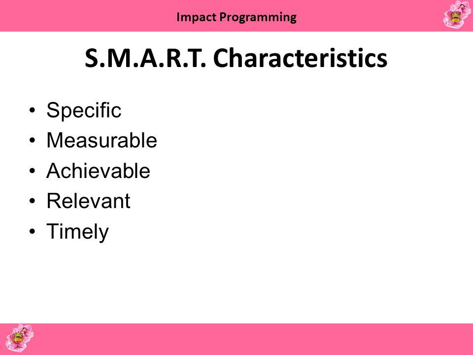 S.M.A.R.T. Characteristics