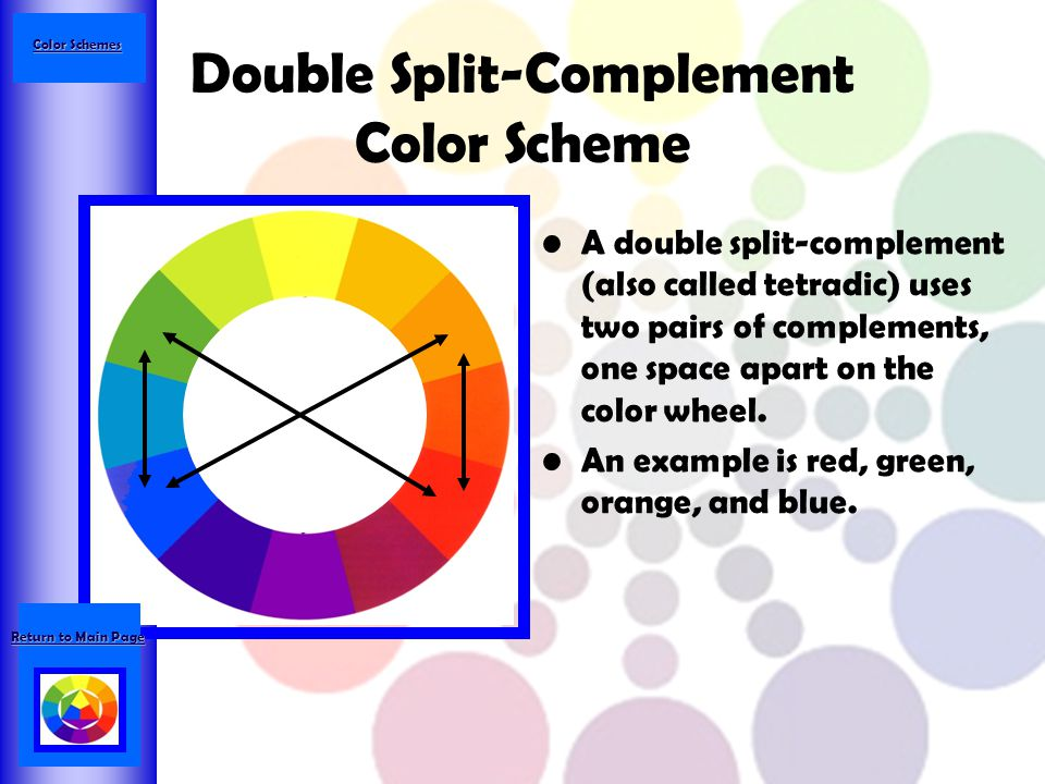 Double Split Complement Color Scheme
