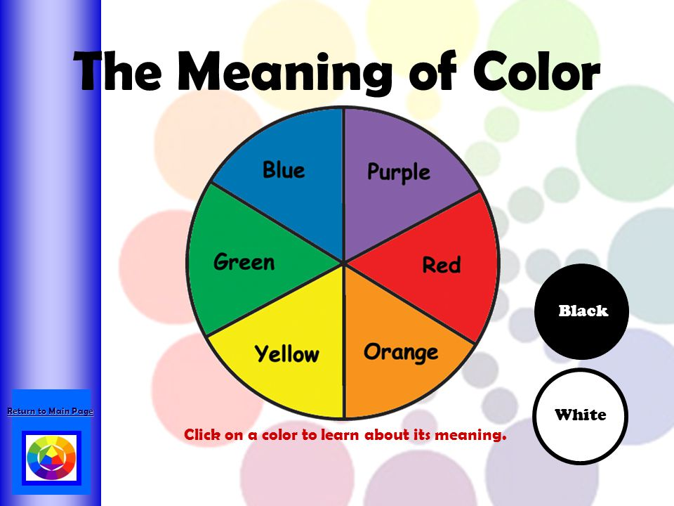 The Meaning of Color Black White