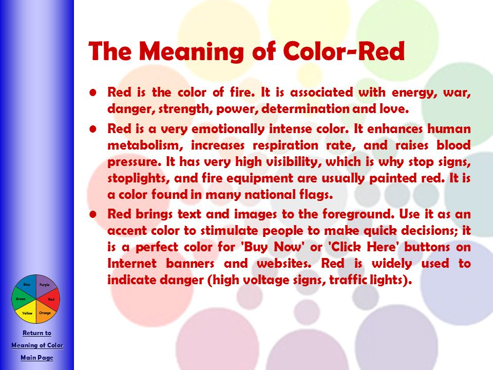 The Meaning of Color-Red