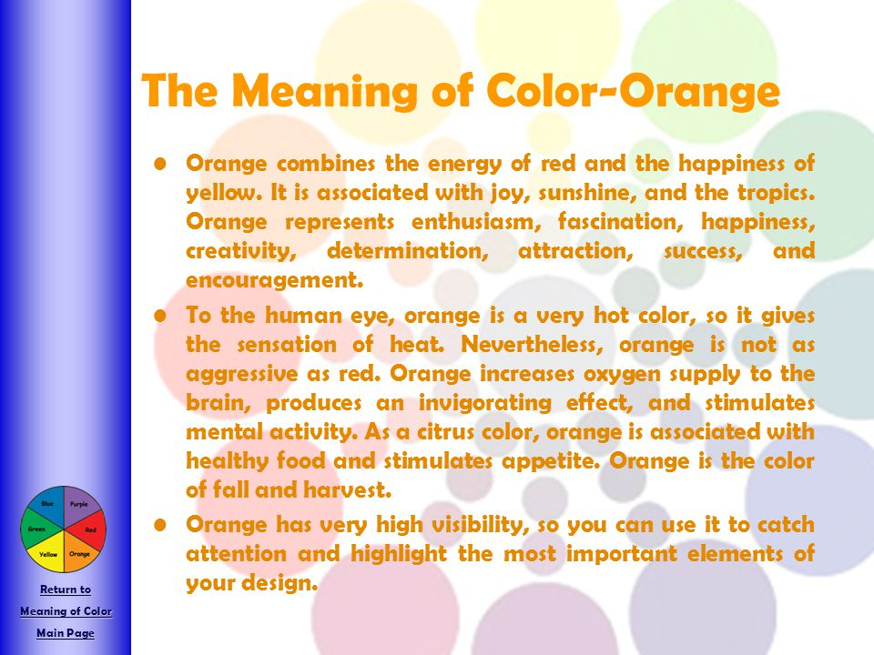 The Meaning of Color-Orange
