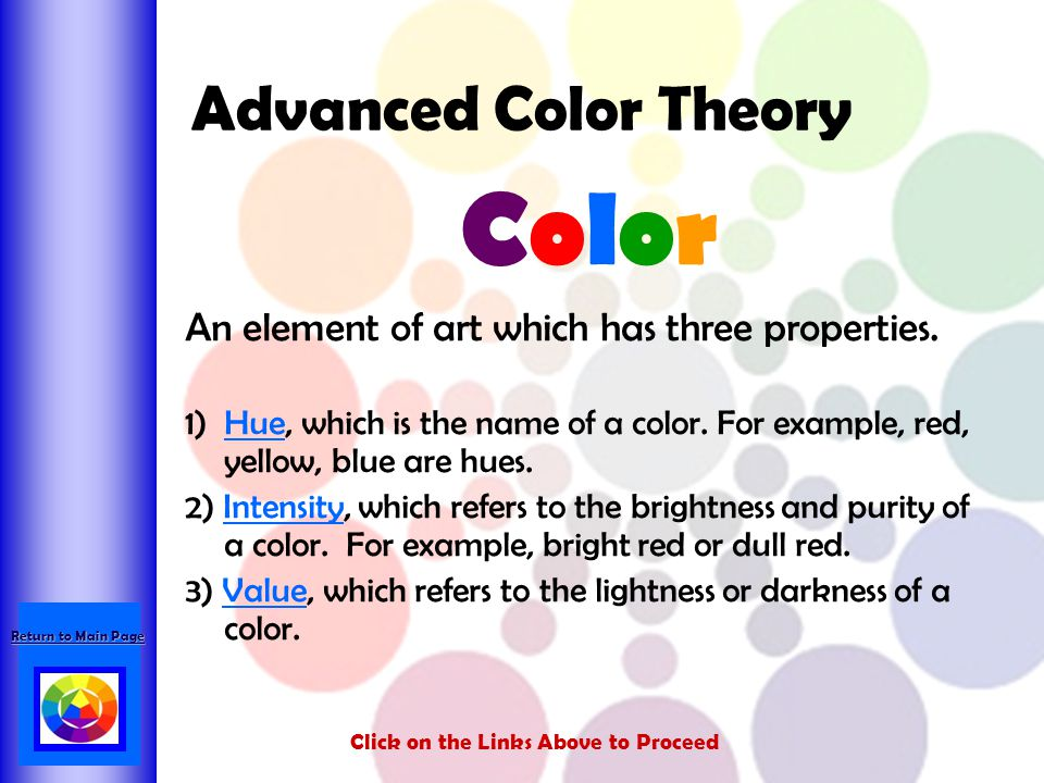Color Advanced Color Theory