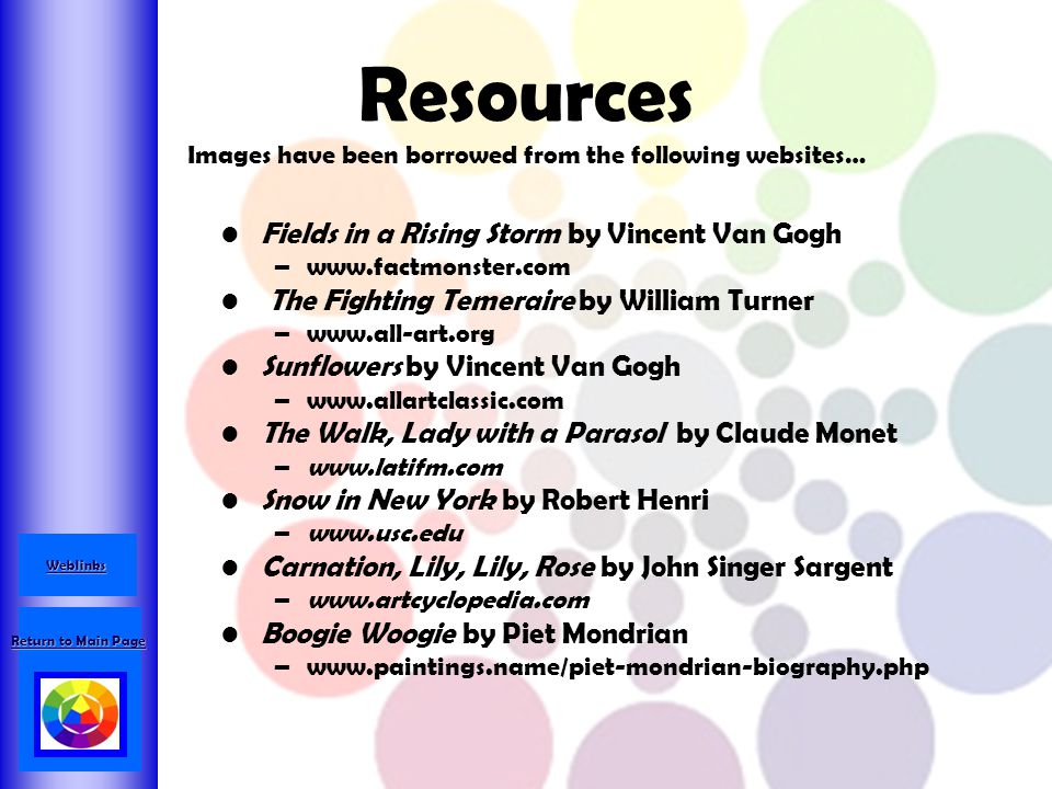 Resources Images have been borrowed from the following websites…