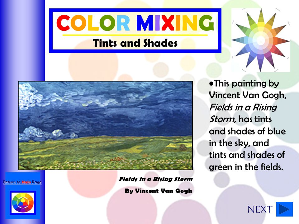 COLOR MIXING Tints and Shades