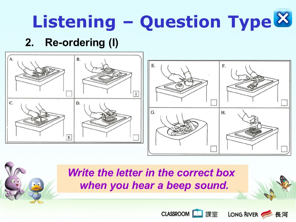 Listening – Question Type