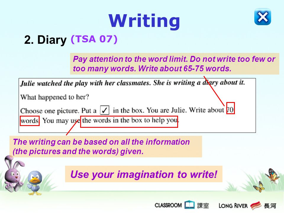 Use your imagination to write!
