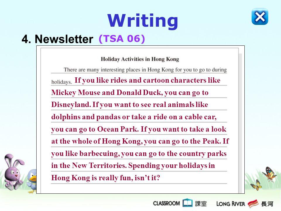 Writing 4. Newsletter (TSA 06)