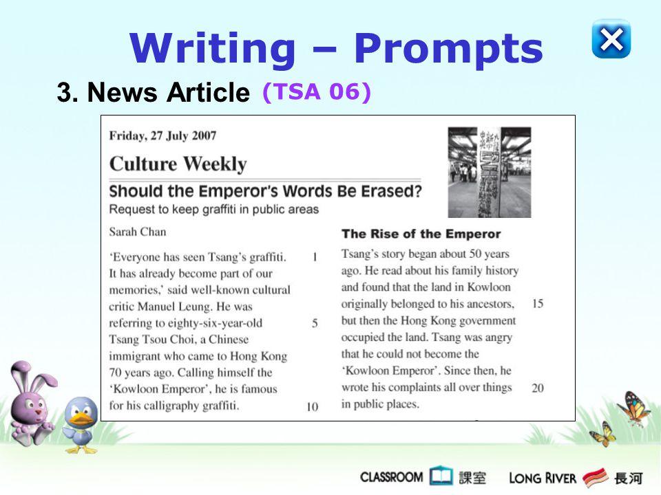Writing – Prompts 3. News Article (TSA 06)