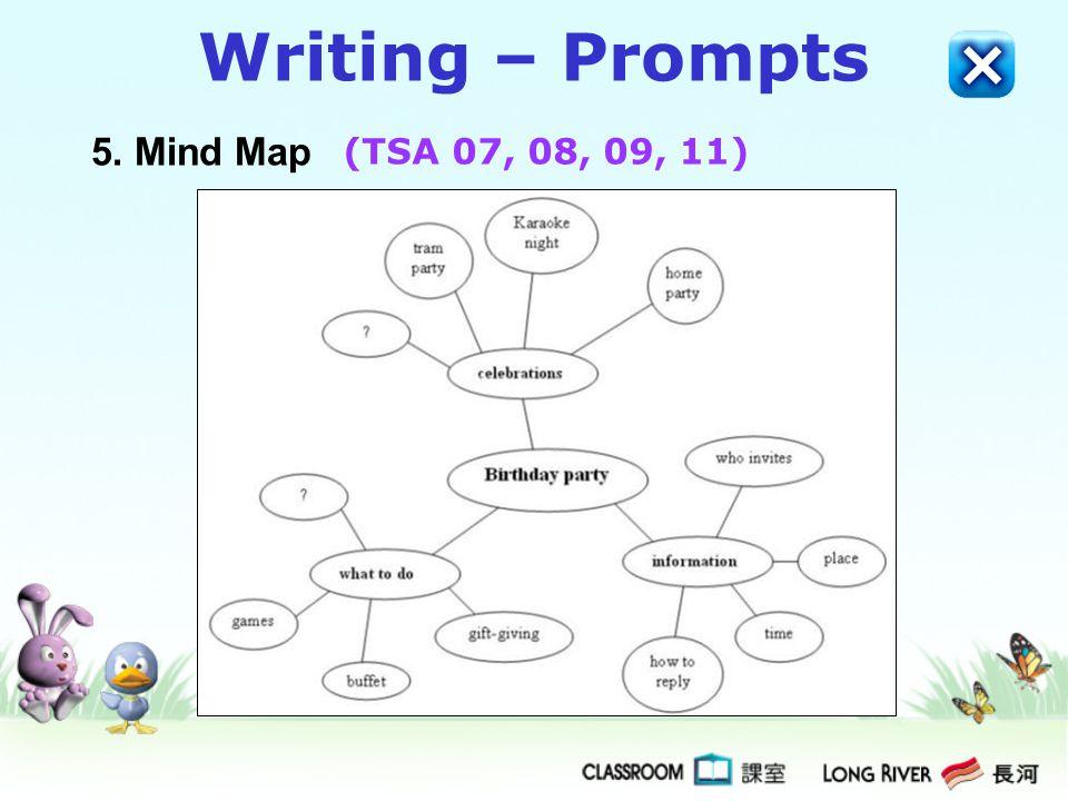 Writing – Prompts 5. Mind Map (TSA 07, 08, 09, 11)