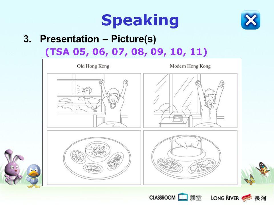 Speaking 3. Presentation – Picture(s) (TSA 05, 06, 07, 08, 09, 10, 11)