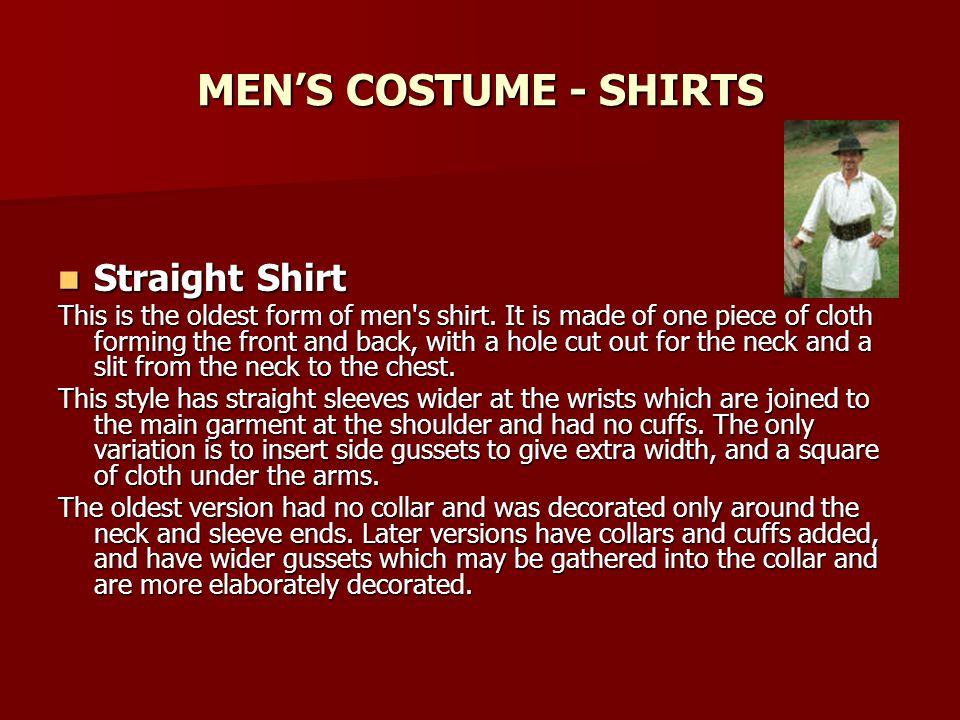 MEN'S COSTUME - SHIRTS Straight Shirt