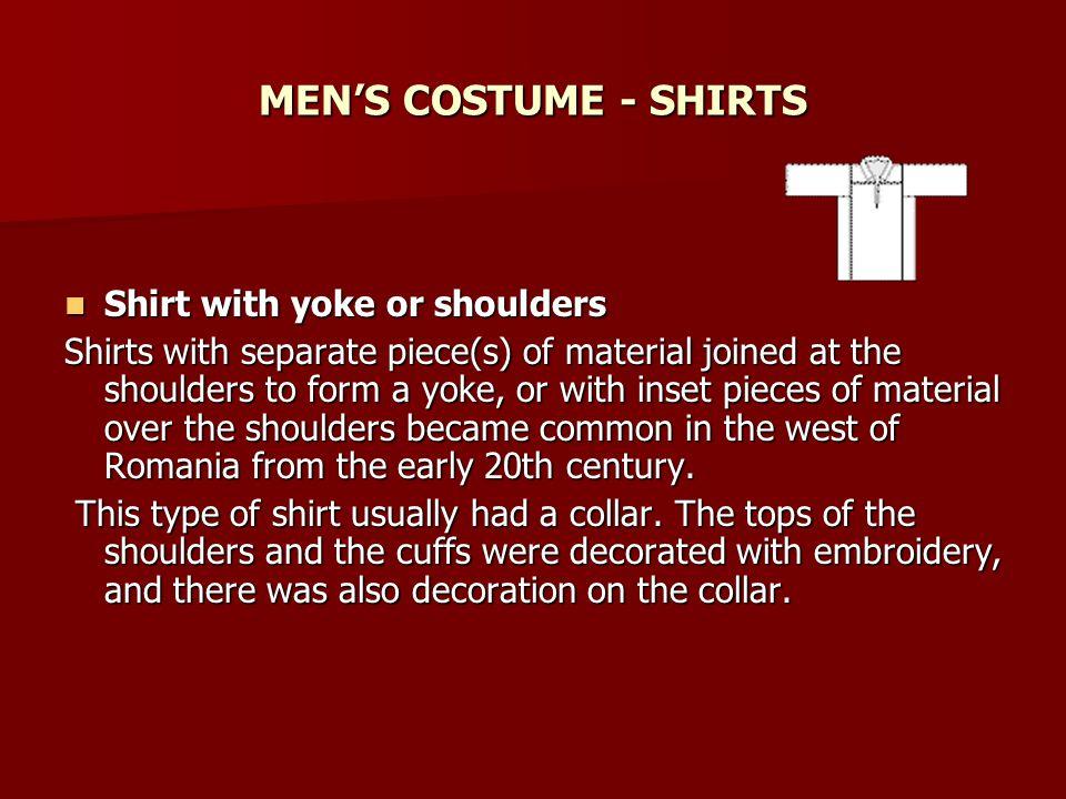 MEN'S COSTUME - SHIRTS Shirt with yoke or shoulders