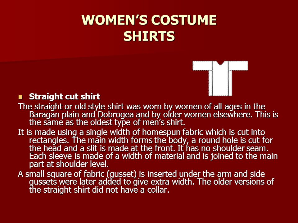 WOMEN'S COSTUME SHIRTS
