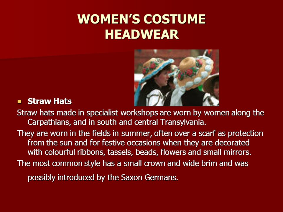 WOMEN'S COSTUME HEADWEAR