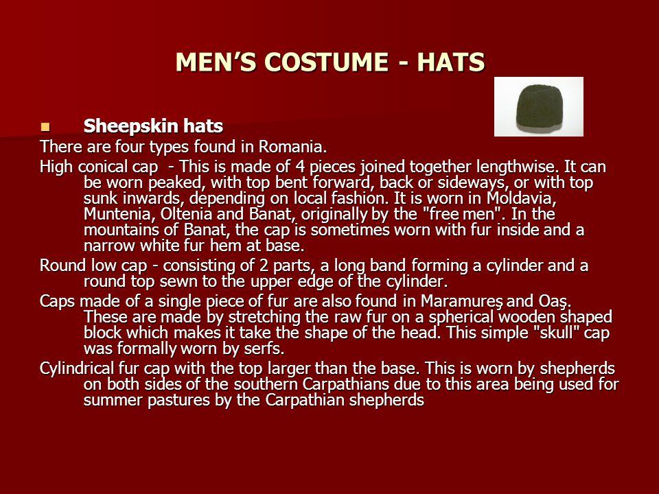 MEN'S COSTUME - HATS Sheepskin hats
