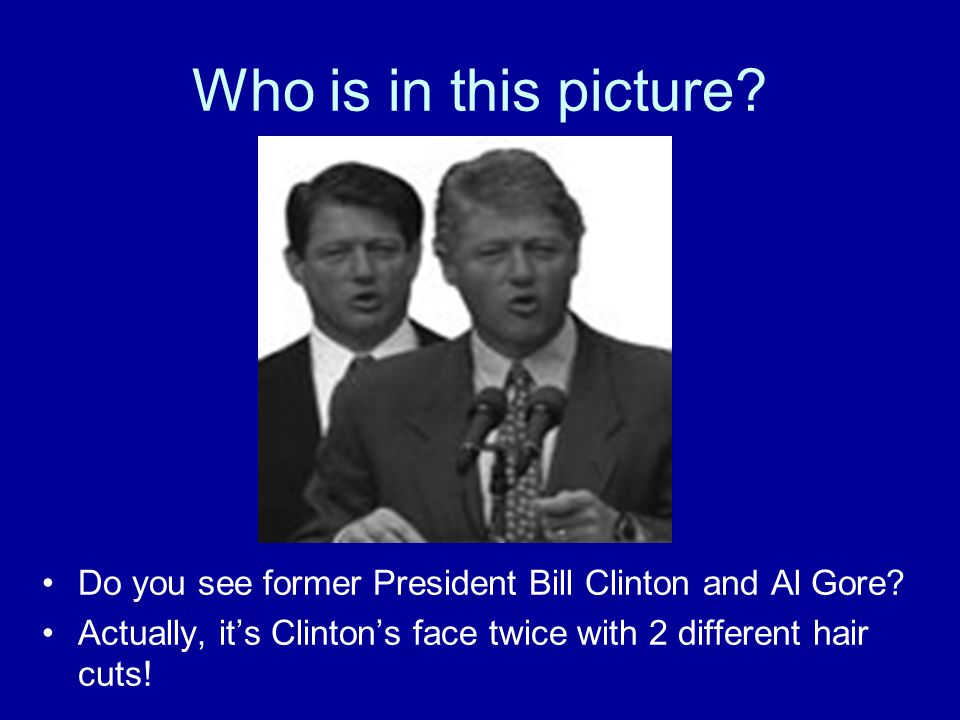 Who is in this picture. Do you see former President Bill Clinton and Al Gore.