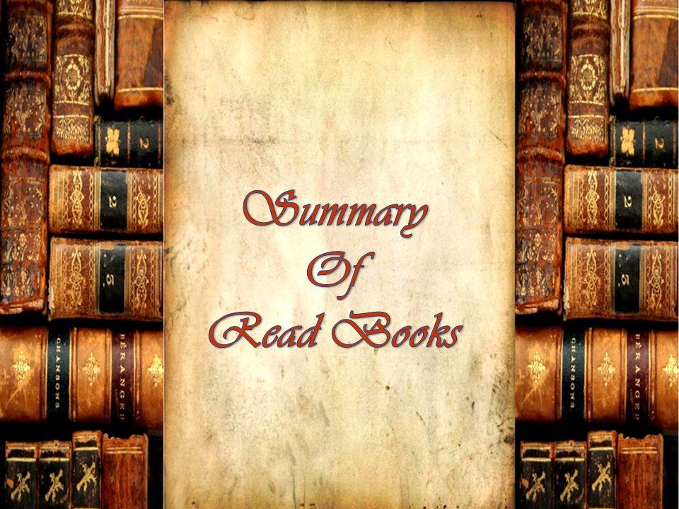 Summary Of Read Books