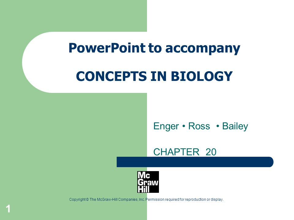 PowerPoint to accompany CONCEPTS IN BIOLOGY